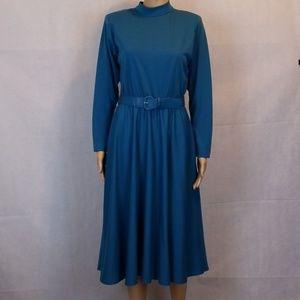 Impromptu Vintage 1980's Dress Blue Size 11/ 12